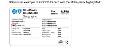 BCBS alpha prefix