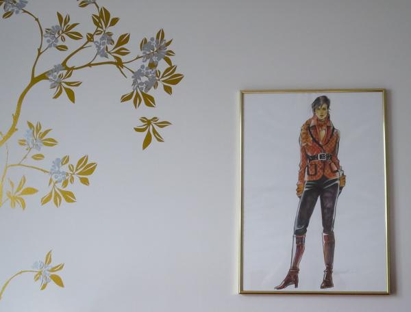 hotelli Tuulonen nelkytplus taide muotipiirros hotelli Tuulos abc seinätaide taulut hotellissa