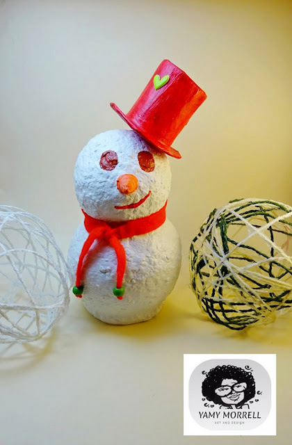 DIY-Snowman-paper-clay