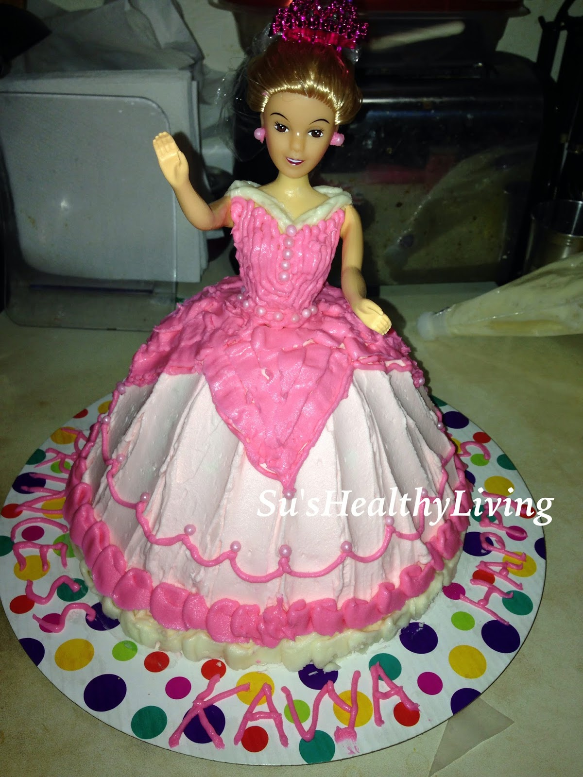 Su S Healthy Living My First Princess Doll Cake