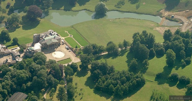 Aerial View of billionaire James Dyson's House