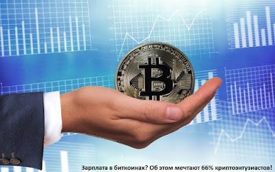 Зарплата в биткоинах? Об этом мечтают 66% криптоэнтузиастов!