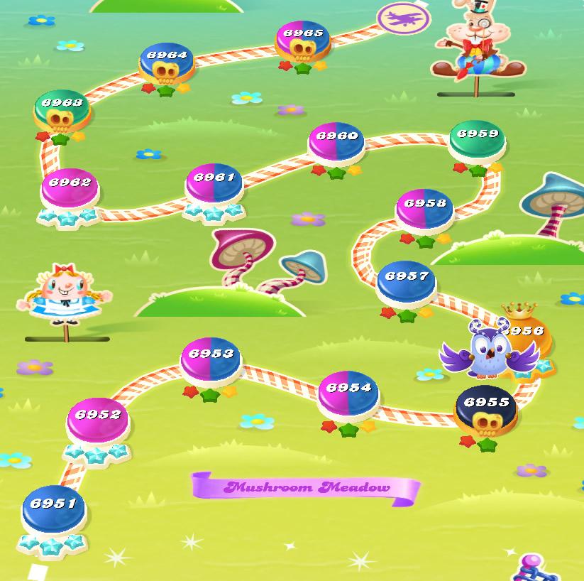 Candy Crush Saga level 6951-6965