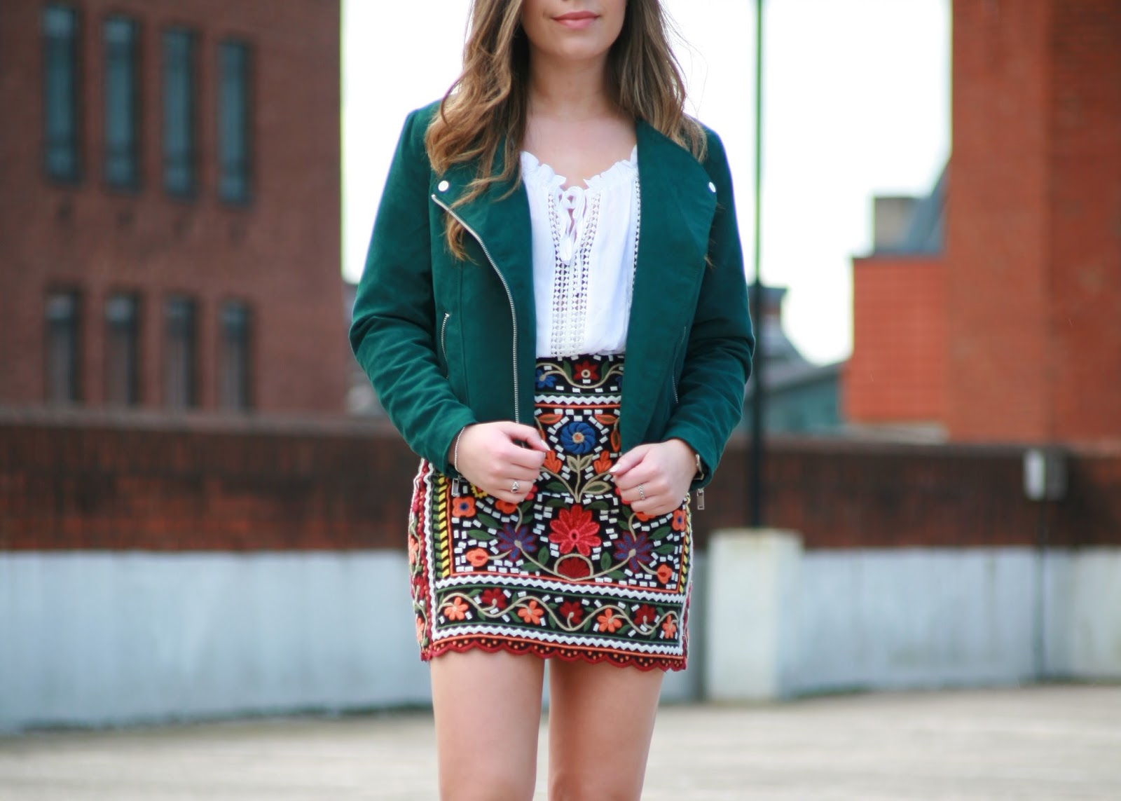 embroidered summer zara skirt