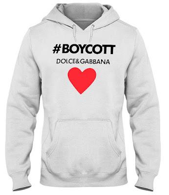 Boycott Dolce and Gabbana Shirt Tee Shirt hoodie 2018