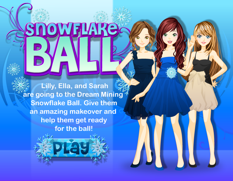 Girl Game Reviews Dm Snowflake Ball Dress Up Games Dream Mining