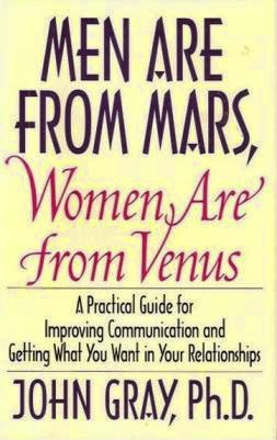 Men are from mars, women from mars