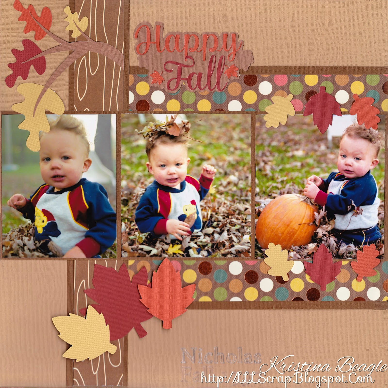 http://kellycraftblog.blogspot.com/2014/11/happy-fall-layout-by-kristina-beagle.html
