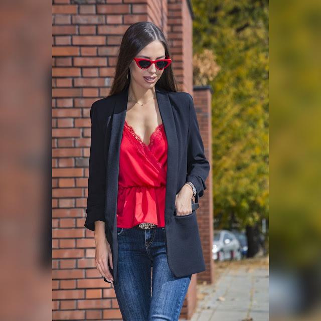 Γυναικείο μαύρο σακάκι ARIALA BLACK