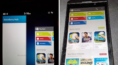 Google Play Store Ada Di BlackBerry Z10