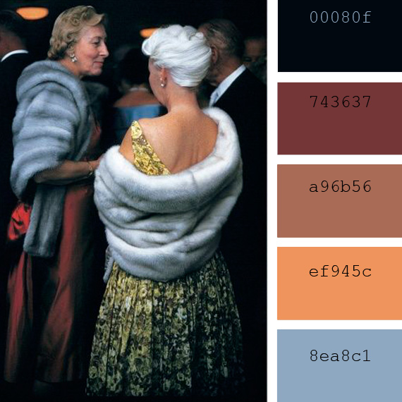 Robert Doisneau photography, color palette
