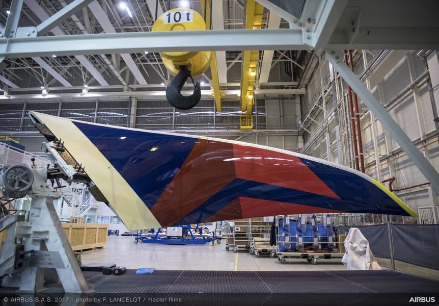 Primeiro Airbus A350 da Delta, começa a tomar forma. Veja fotos >>