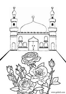 Gambar Sketsa Mewarnai Masjid Terbaru 201701