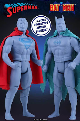 "San Diego Comic-Con 2016 Exclusive DC Comics Super Powers Prototype Batman & Superman 12"" Jumbo Vintage Action Figures by Gentle Giant"