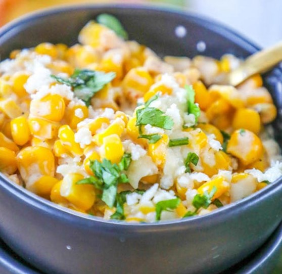 MEXICAN STREET CORN CASSEROLE #vegetarian #mexicanfood