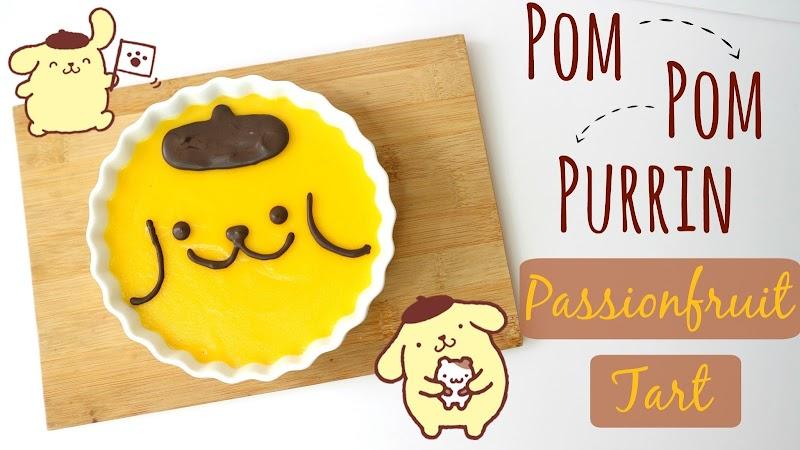 Pom Pom Purrin Passion fruit Tart 布甸狗熱情果撻