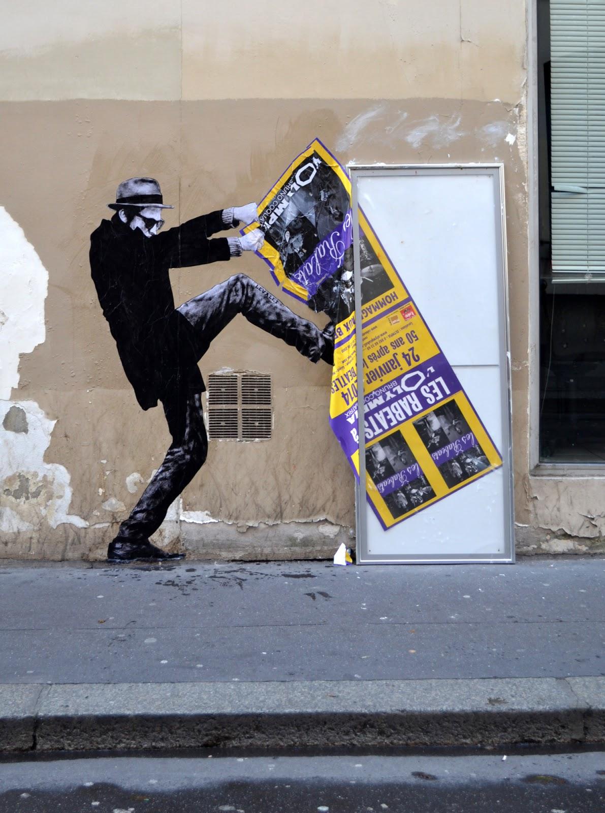 Levalet | Ein französischer Künstler zwischen Portraitkunst und StreetArt zaubert ein Lächeln in Paris