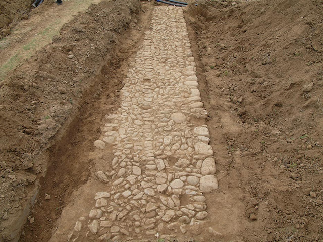 Two sections of the Via Egnatia discovered in Northern Greece