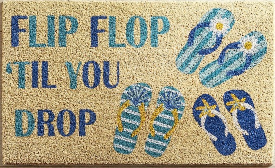 Flip Flop Til You Drop Doormat