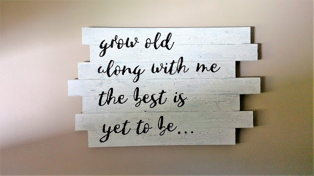grow old with me the best is yet to be wall hanging - DIY - linaandvi.com