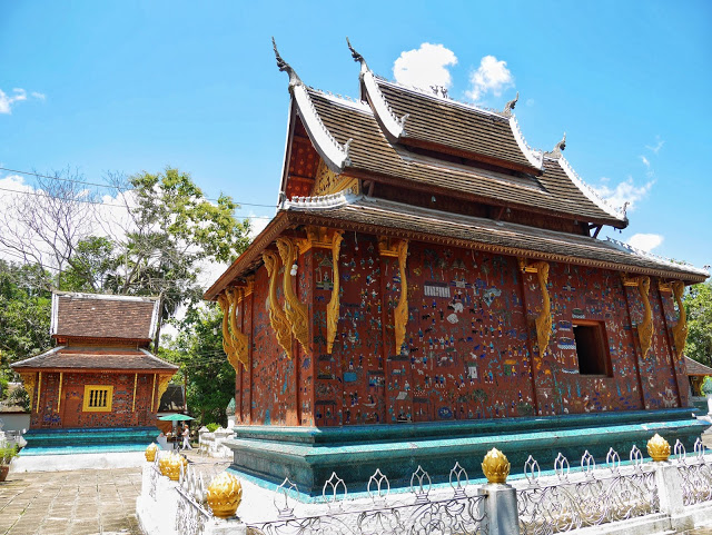 red chapel at wat xiengthong, luang prabang