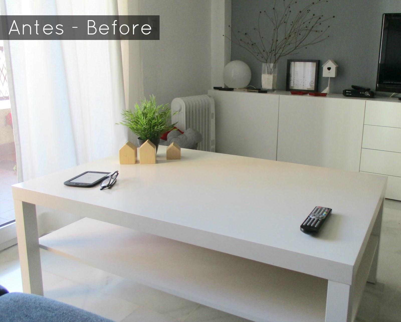 Antes y Despues: Renovando mi mesa Lack de Ikea - La Buhardilla ...