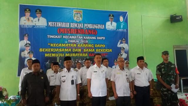 Musrenbang Kecamatan Karang Dapo, Menuju Muratara Bangkit