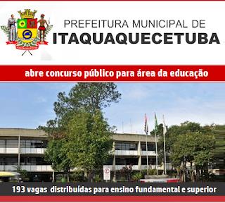 Apostila para o Concurso Público da Prefeitura Itaquaquecetuba 2017