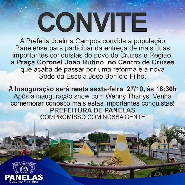 Inauguração de Praça e Escola no Distrito Cruzes