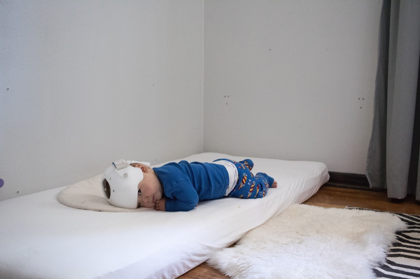 realities of a montessori floor bed -- montessori baby week 32