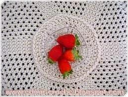 aprender croche curso de croche americanos porta-copos porta-xicaras morangos edinircrochevideos