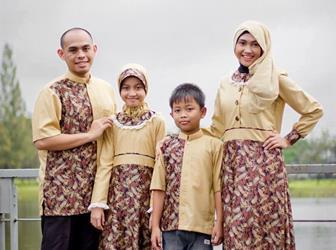 Model Baju Batik Couple Gamis Keluarga