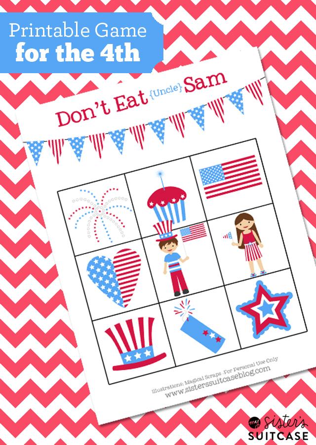4th Of July Kids Game Don T Eat Sam Printable Blog