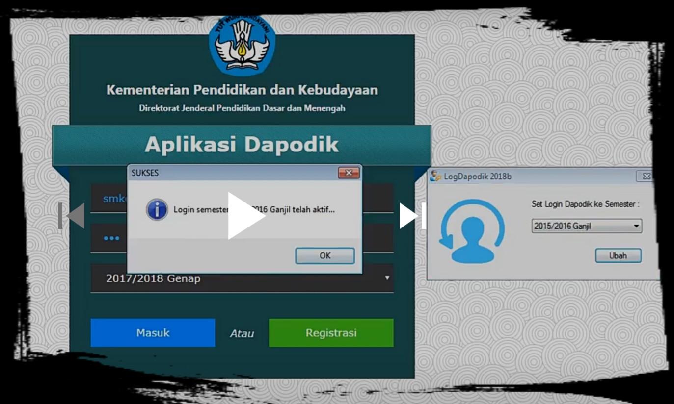 LogDapodik 2018b: Aplikasi Login Dapodik Semester Sebelumnya