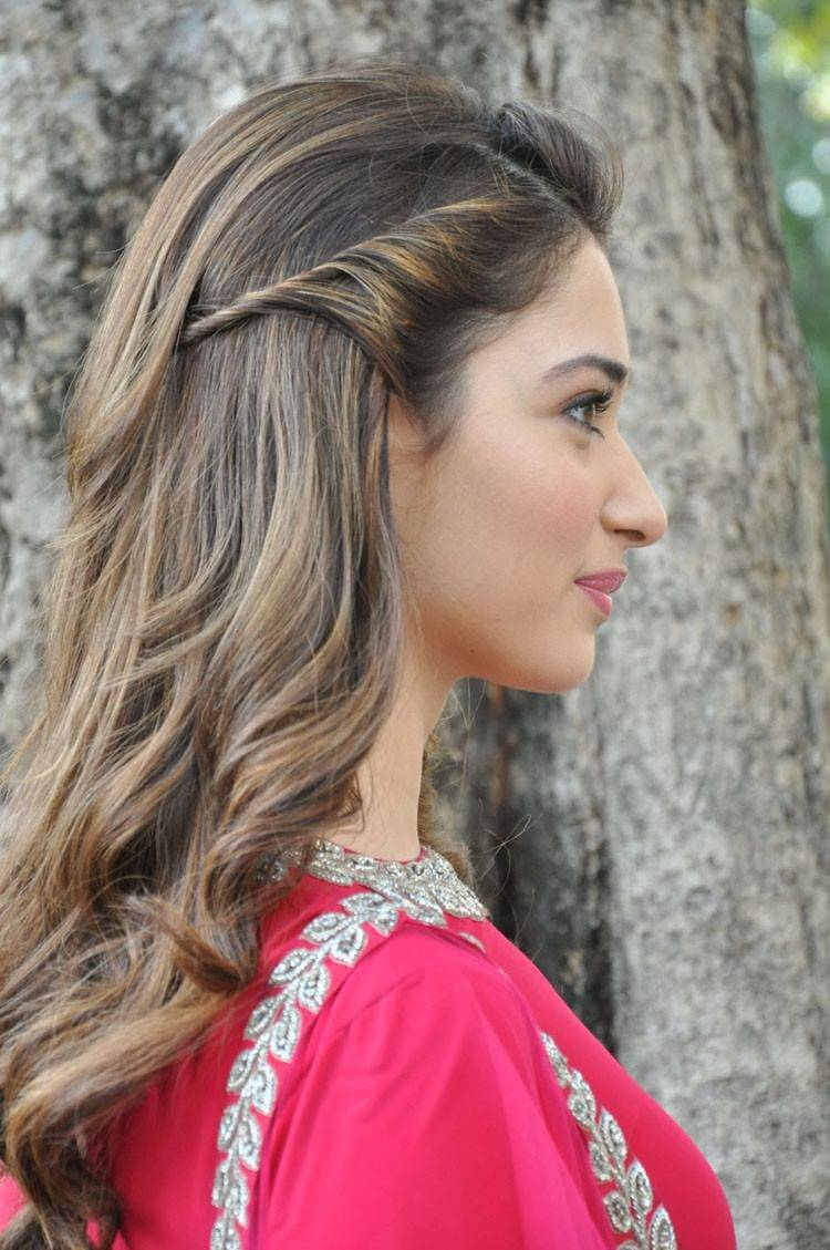 Tamanna Stills From Bengal Tiger Movie In Red Dress
