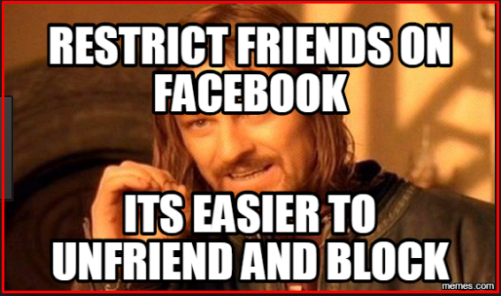 How to Restrict Friends on Facebook