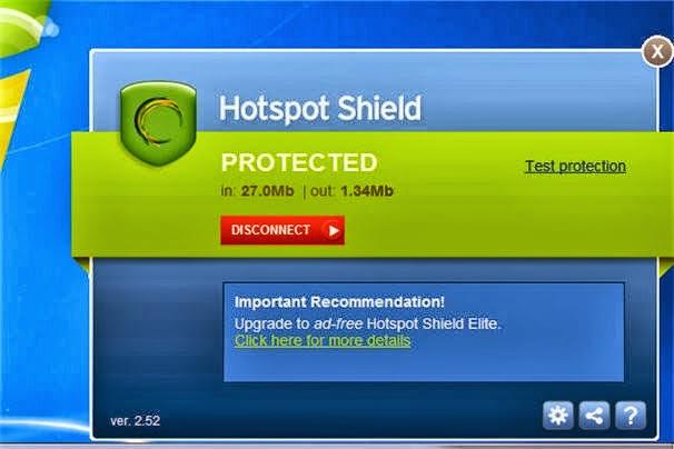 cant start hotspot shield install application