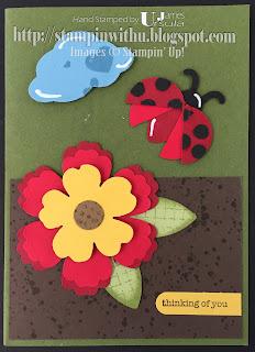 Ladybug Punch Art Card