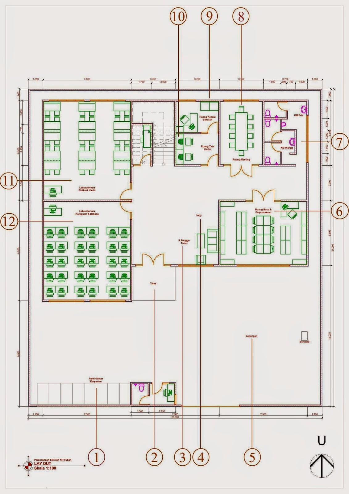 Desain Gedung Sekolah 3 Lantai : desain, gedung, sekolah, lantai, Desain, Sekolah, Minimalis, Hubungi, 082.33333.9949