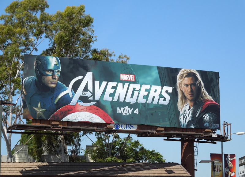 Avengers movie billboard
