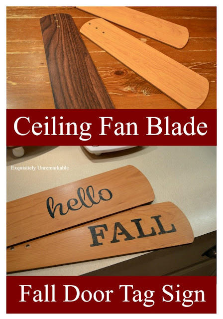 Stenciled Fan Blades For Fall