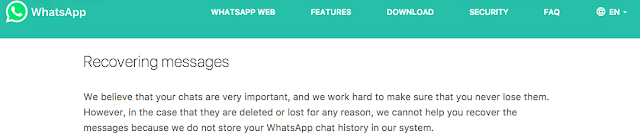 Recovering Whatsapp Messages