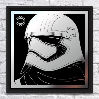 New York Comic Con 2016 Exclusive Star Wars The Force Awakens Captain Phasma Laser Engraved Mirrored Metal Print by Joshua Budich x Spoke Art