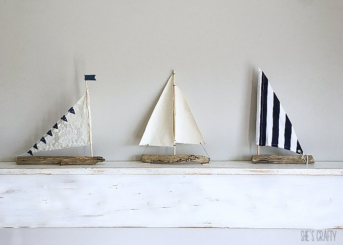 How to make DIY Driftwood Sailboats