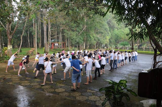 Hoạt động dã ngoại tại khu du lịch thác Dambri
