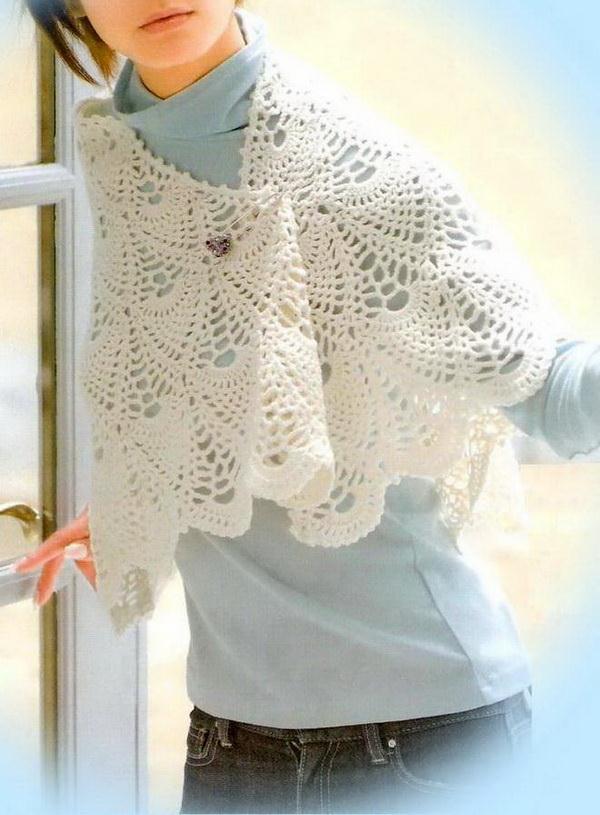 Crochet Cape Patterns - Pineapple Crochet - Shawl Cape