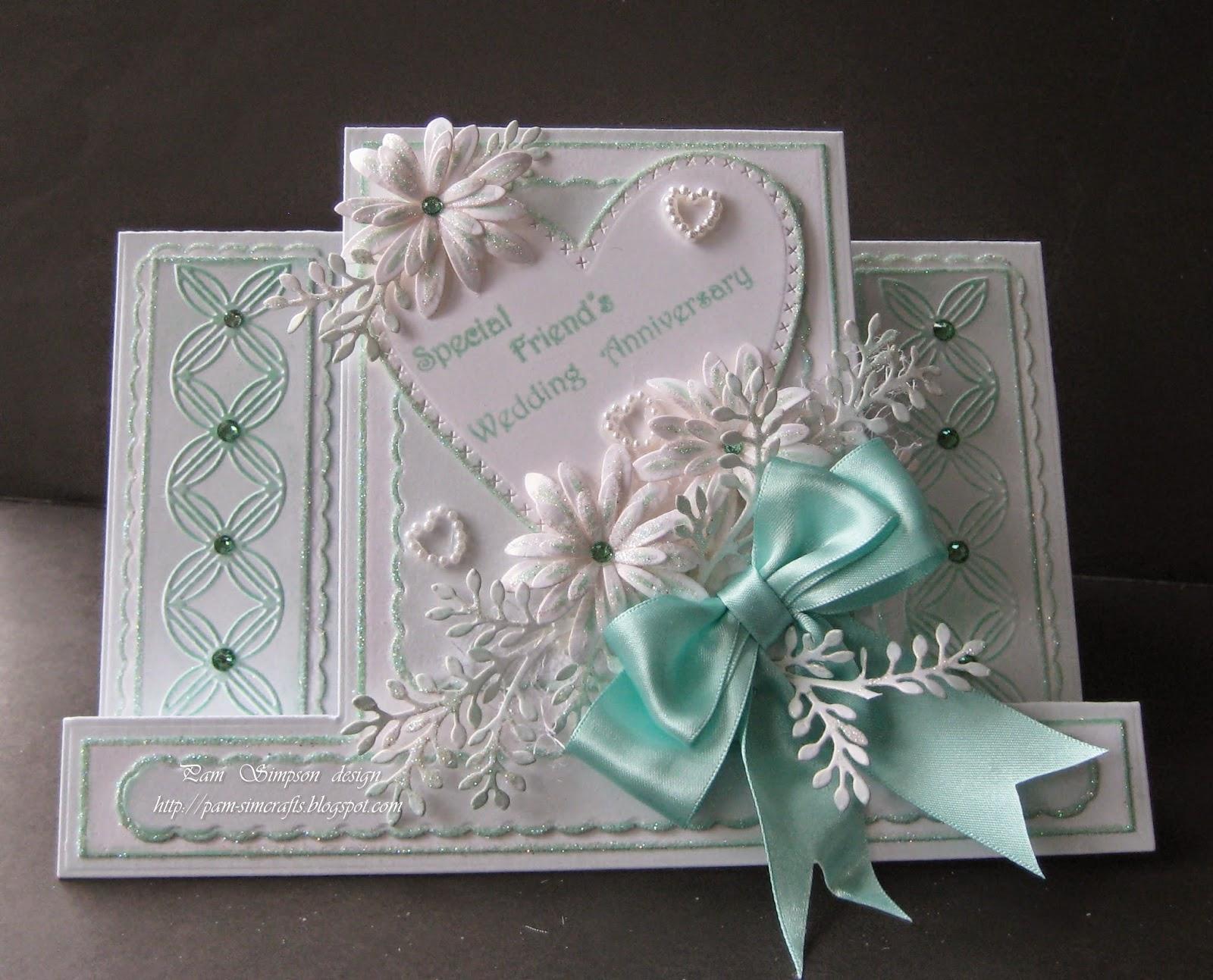 pamscrafts friendswedding anniversary card