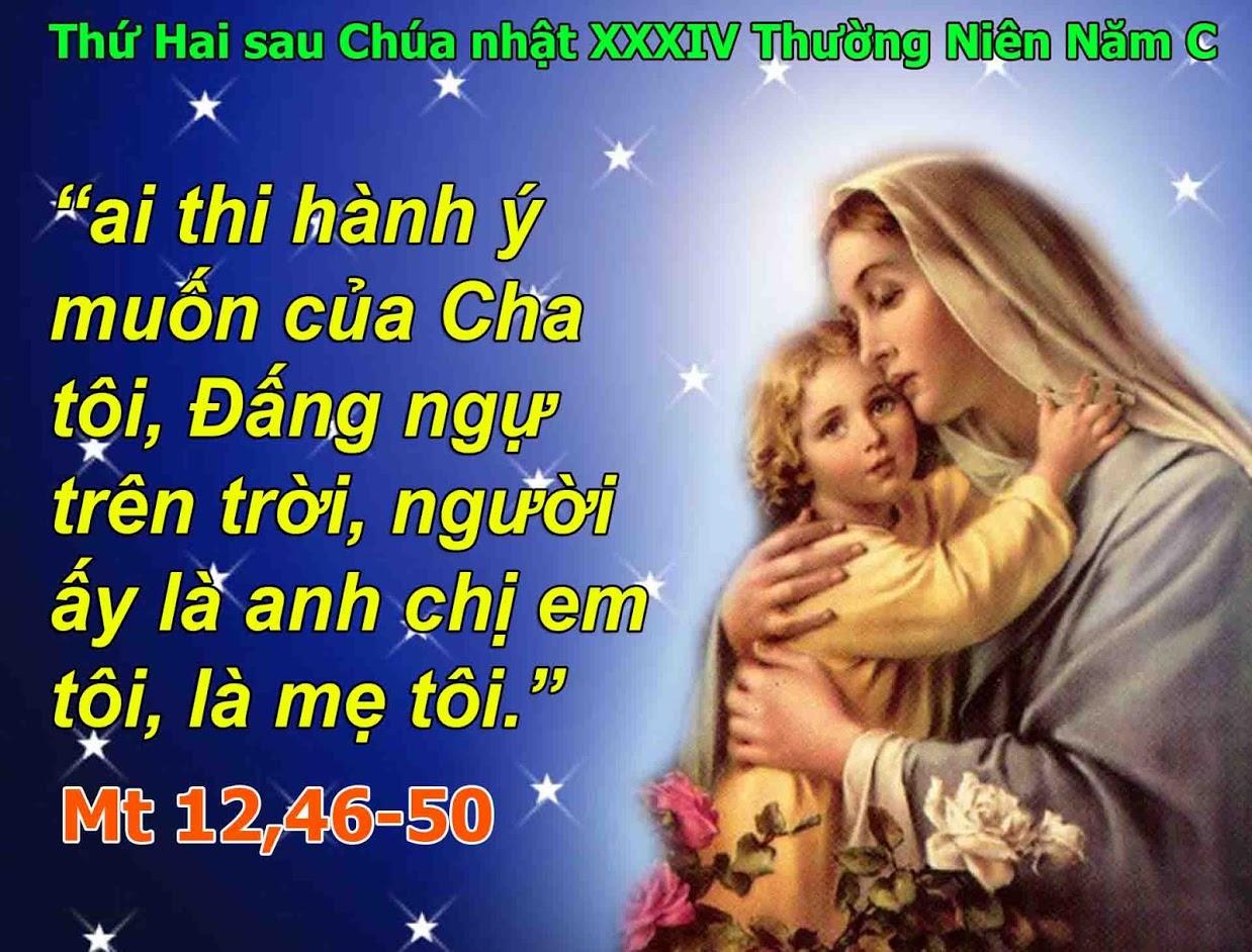Mẹ của Ơn Cứu Rỗi: Lời Chí Thánh của Người sẽ nuôi dưỡng linh hồn các con và làm cho linh hồn các con mạnh mẽ trở lại.