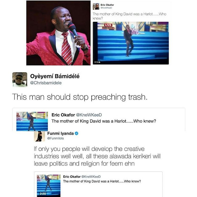 Apostle Suleiman bash for calling David's mother a harlot