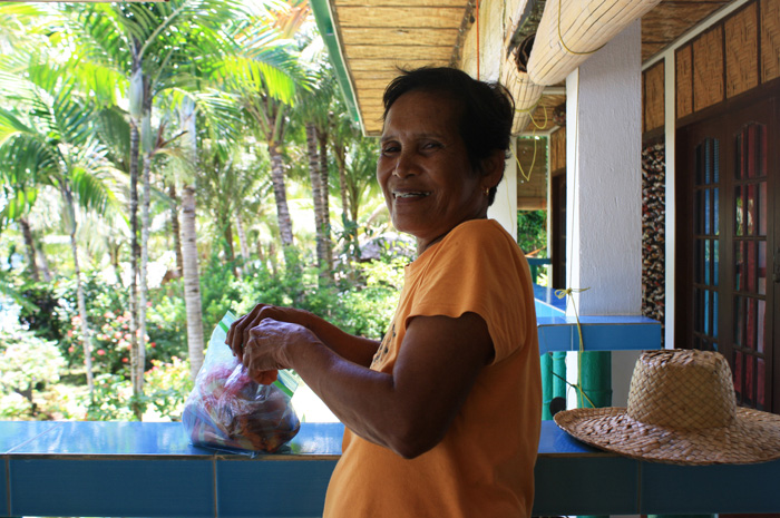 Nanay Nokring, the resort owner who took care of us during our vacation
